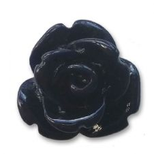 10mm Black Small Resin Rose Buds
